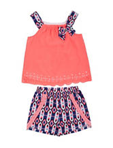 Little Lass 2-pc. Tribal Shorts Set - Toddlers & Girls 4-6x