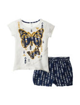 One Step Up Butterfly Top & Shorts Set - Girls 7-16