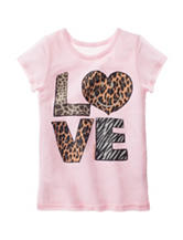 Twirl Pink Animal Love Top – Girls 7-16