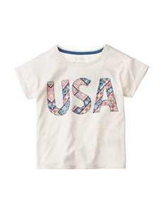 Jessica Simpson USA Print T-shirt - Girls Toddlers & 4-6x