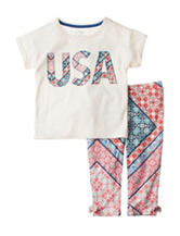Jessica Simpson USA Top & Legging Set - Girls Toddlers & 4-6x
