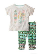 Jessica Simpson Surfboard Top & Aztec Print Leggings Set - Toddlers & Girls 4-6x