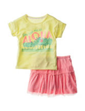 Jessica Simpson Aloha Top & Skirt Set - Toddlers & Girls 4-6x