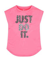 Nike® Pink Just Do It Top - Toddler Girls