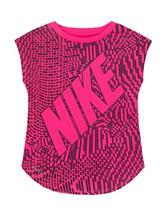 Nike® Pink & Black Pixel Print Top – Toddler Girls