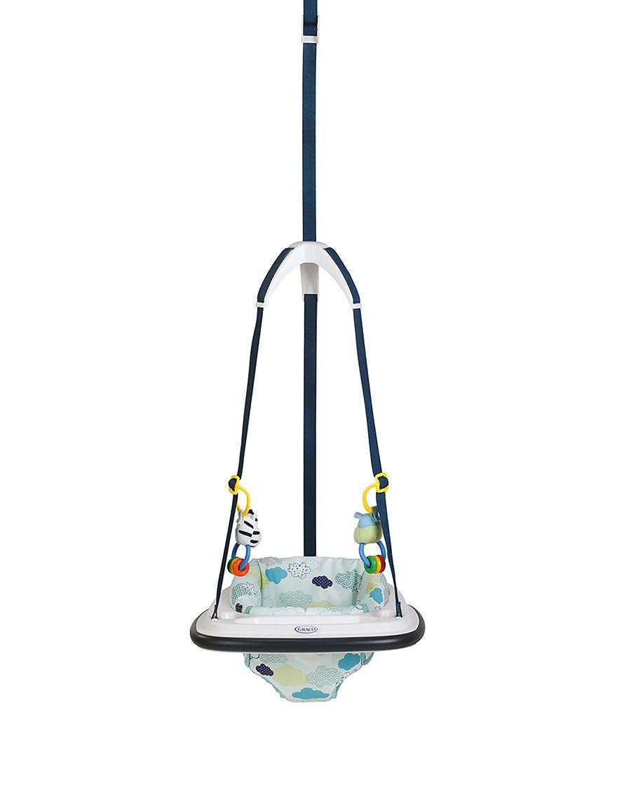 Graco Navy Swings, Bouncers, & Jumpers