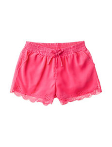 One Step Up Laser Cut Woven Shorts – Girls 7-16