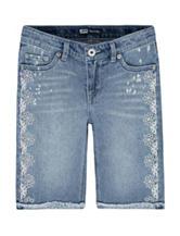 Levi's® Light Wash Floral Crochet Bermuda Shorts – Girls 7-16