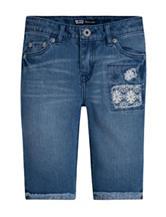 Levi's® Medium Wash Blue Denim Floral Crochet Bermuda Shorts – Girls 7-16