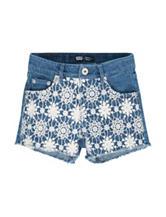 Levi's® Medium Wash Crochet Front Denim Shorts – Girls 7-16