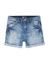 Levi's® Medium Wash Rolled-Cuff Denim Shorts – Girls 7-16