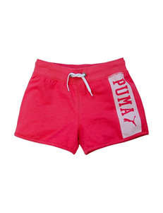 Puma® Solid Color Pink Active Shorts – Girls 7-16
