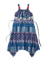 1st Kiss Multicolor Aztec Print Dress – Girls 7-16