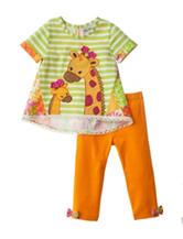Rare Editions Giraffe Print Legging Set - Baby 12-24 Mos.