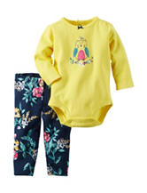 Carter's® 2-pc. Yellow Owl Bodysuit Set – Baby 0-12 Mos.