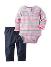 Carter's® 2-pc. Multicolor Aztec Print Bodysuit Set – Baby 0-12 Mos.