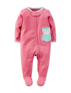 Carter's® Pink Owl Footed Sleep & Play – Baby 0-9 Mos.