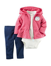Carters® 3-pc. Dot Print Jacket & Leggings Set - Baby 0-18 Mos.