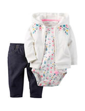 Carters® 3-pc. Floral Print Bodysuit & Leggings Set - Baby 0-18 Mos.