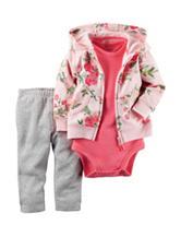 Carters® 3-pc. Floral Print Jacket & Leggings Set - Baby 0-18 Mos.