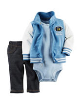 Carters® 3-pc. Varsity Jacket & Pants Set - Baby 0-18 Mos.