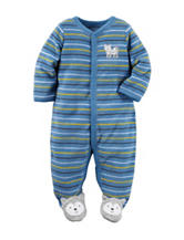 Carter's® Multicolor Striped Print Wolf Footie Sleeper – Baby 0-9 Mos.