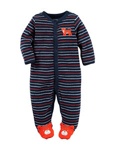 Carter's® Multicolor Striped Print Tiger Footie Sleeper – Baby 0-9 Mos.