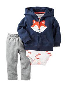 Carters® 3-pc. Fox Print Cardigan Set - Baby 0-18 Mos.