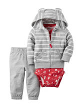 Carters® 3-pc. Striped Jacket & Pants Set - Baby 0-18 Mos.