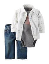 Carters® 3-pc. Brave Like Daddy Bodysuit & Jeans Set - Baby 0-18 Mos.