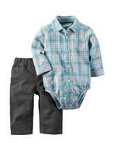 Carter's® 2-pc. Multicolor Plaid Print Bodysuit & Pants Set – Baby 0-24 Mos.