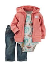 Carters® 3-pc. Aztec Print Bodysuit & Jeans Set - Baby 0-24 Mos.