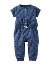 Carter's® Blue Polka-Dot Print Jumpsuit – Baby 0-9 Mos.