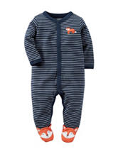 Carter's® Striped Fox Footed Sleep & Play – Baby 0-9 Mos.