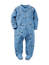 Carter's® Blue Bear Print Footed Sleep & Play – Baby 0-9 Mos.
