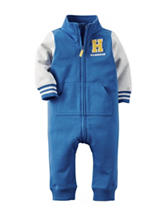 Carter's® Blue Letterman's Handsome Coverall – Baby 0-12 Mos.