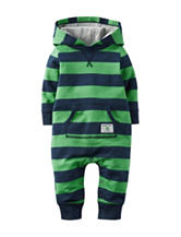 Carter's® Blue & Green Striped Coverall – Baby 0-12 Mos.
