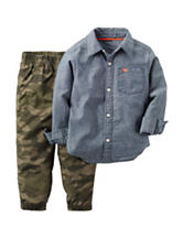 Carters® 2-pc. Chambray Shirt & Camo Print Pants Set - Baby 12-24 Mos.