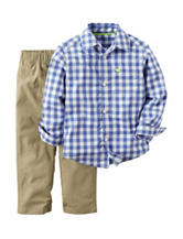 Carters® 2-pc. Plaid Print Woven Shirt & Pants Set - Baby 12-24 Mos.