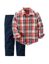 Carter's® 2-pc. Multicolor Plaid Shirt & Pants Set –  Baby 12-24 Mos.