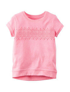 Carter's® Pink Lace Accent Top - Girls 4-8