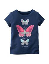 Carter's® Navy Butterfly T-shirt – Toddler Girls