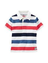 OshKosh B'gosh® Multicolor Striped Print Polo Shirt – Toddler & Boys 5-7