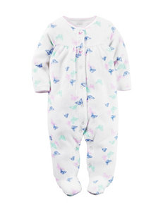 Carter's® Multicolor Butterfly Print Footie Sleeper – Baby 0-9 Mos.