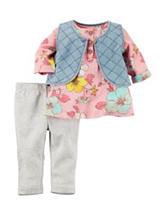 Carter's® 3-pc. Quilted Vest Set – Baby 0-24 Mos.
