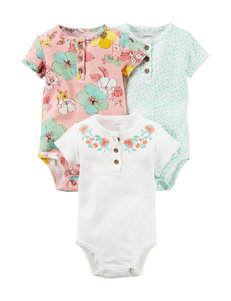 Carter's® 3-pk. Multicolor Floral Print Bodysuits – Baby 0-9 Mos.