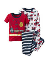 Carter's® 4-pc. Multicolor Firetruck Pajamas Set – Baby 12-24 Mos.