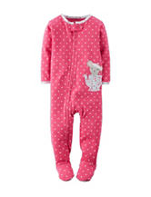 Carter's® Pink Polka Dot Print Footie Sleeper – Baby 12-24 Mos.