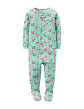 Carter's® Multicolor Floral Print Sleeper– Baby 12-24 Mos.