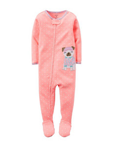 Carter's® Coral Pug Sleep & Play – Baby 12-24 Mos.